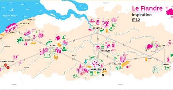 Mappa delle Fiandre
