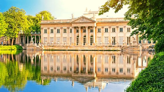cosa vedere a varsavia - il palazzo sull'acqua