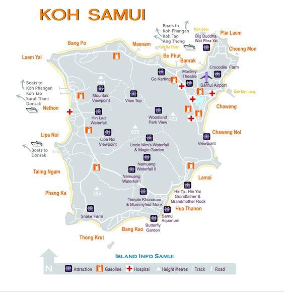 mappa zone migliori Koh Samui