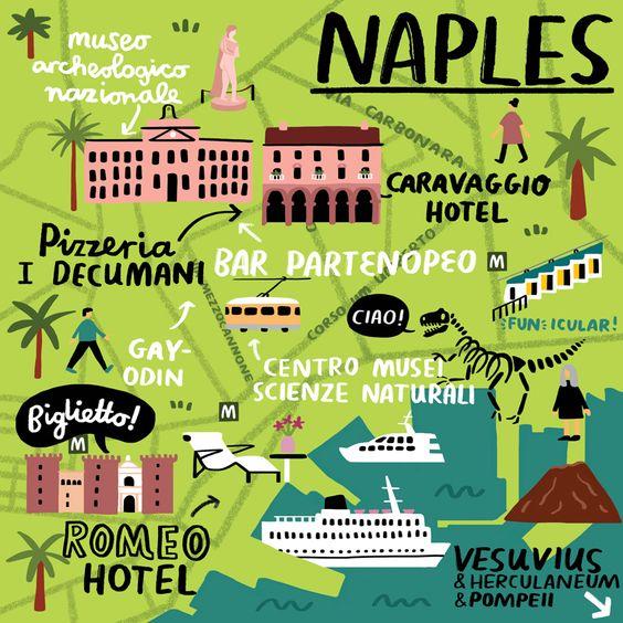 La Cartina Di Napoli.Mappa Di Napoli One More Trip