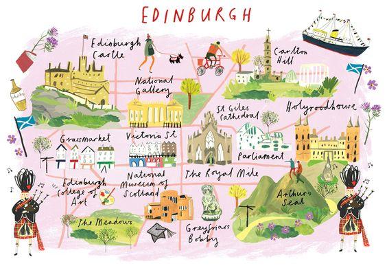 mappa quartieri Edimburgo