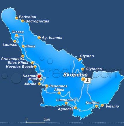 mappa spiagge Skopelos