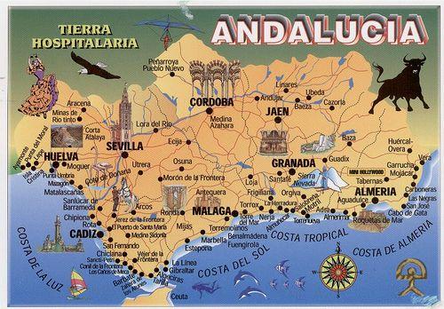 mappa andalusia