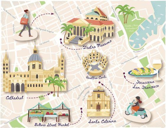 mappa quartieri di Palermo