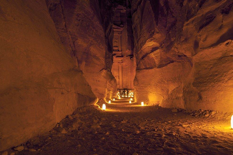 Siq Petra by Night