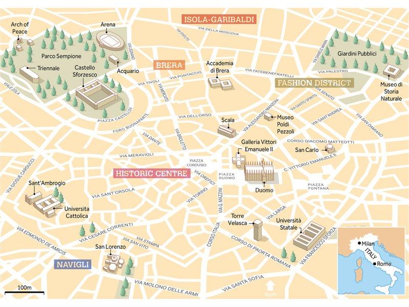 mappa Milano