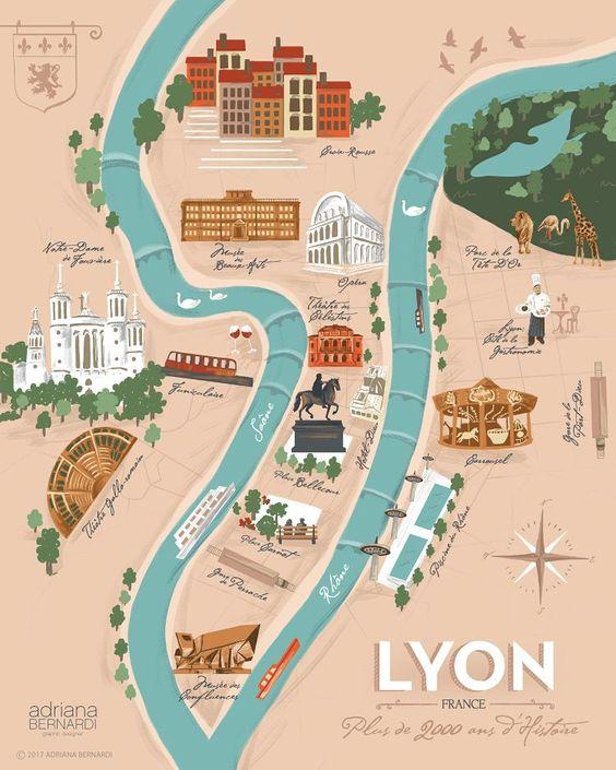 mappa di Lione