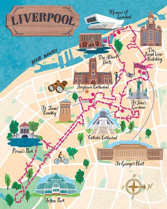 mappa quartieri Liverpool