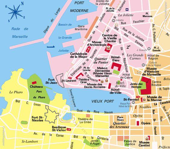 mappa quartieri Marsiglia