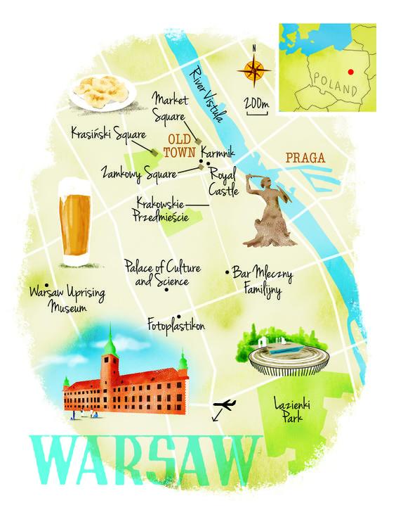 mappa quartieri Varasavia