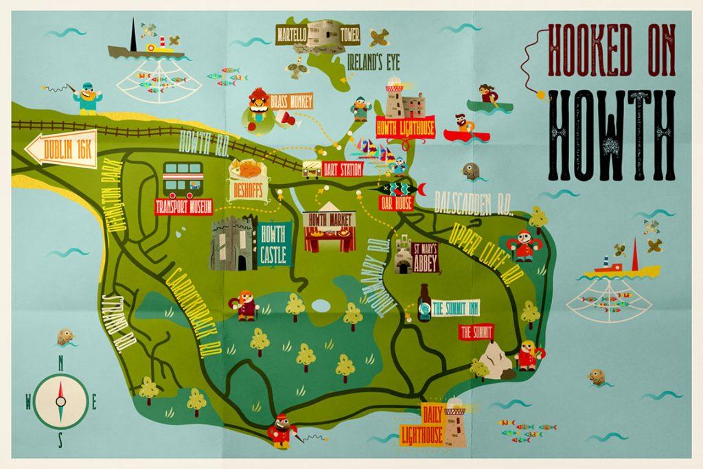 mappa di Howth