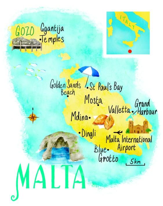 mappa di Malta