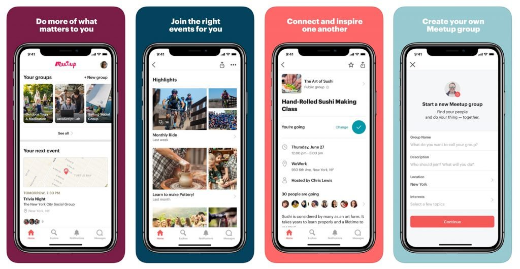 meetup app viggi