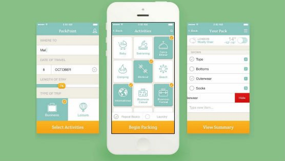 packpoint app viaggio