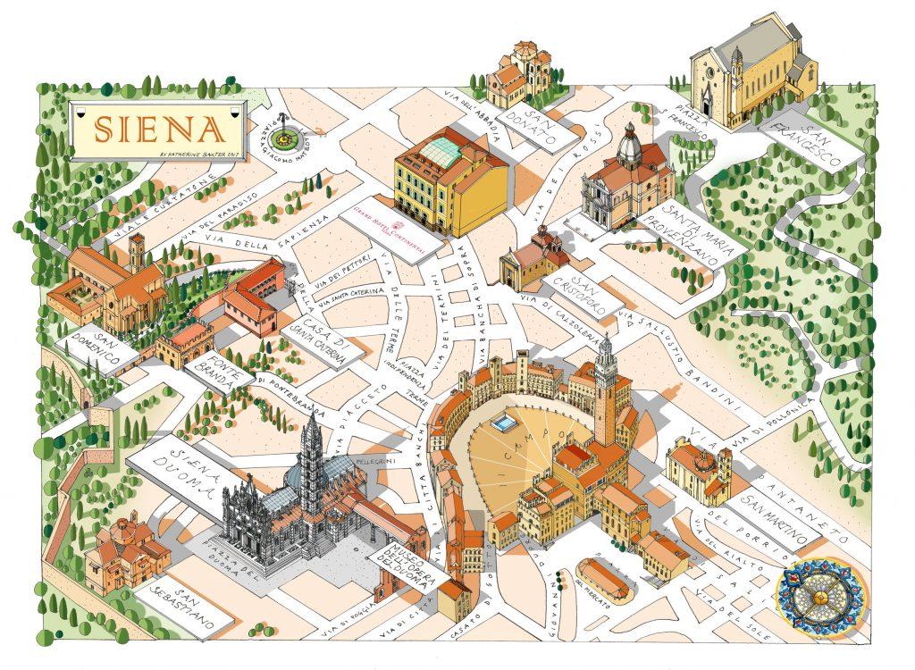 mappa stilizzata siena
